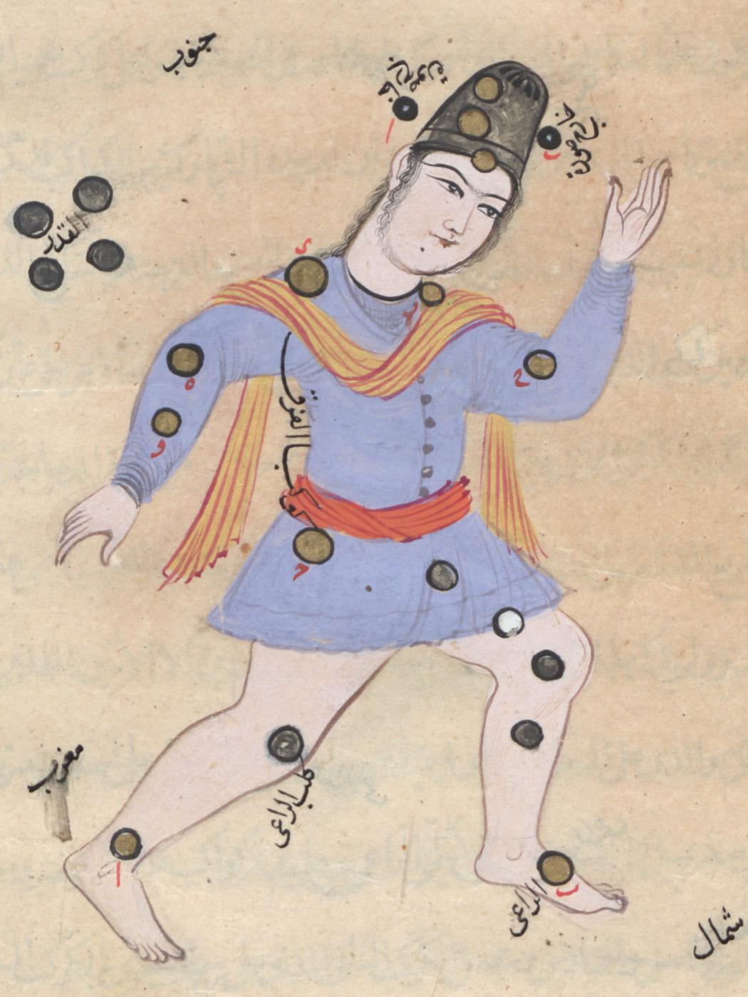 تصویر صورت فلکی قیقاوس از نسخه خطی صورالکواکب عبدالرحمان صوفی#نجوم