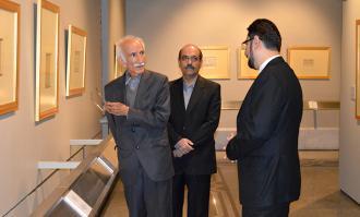 بازدید استاد غلامحسین امیرخانی از کتابخانه و موزه ملی ملک