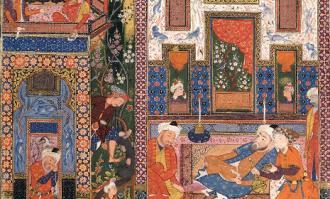 «نگاره خانهباغ» از دیوان حافظ در سالن تک اثر کتابخانه و موزه ملی ملک به نمایش درآمد