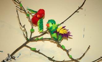 برپایی نمایشگاه «سیمرغ در تاریخ» در آموزشگاه آزاد هنرهای تجسمی بادبادک