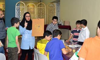 کارگاه تذهیب ویژه نوجوانان در کتابخانه و موزه ملی ملک برگزار شد