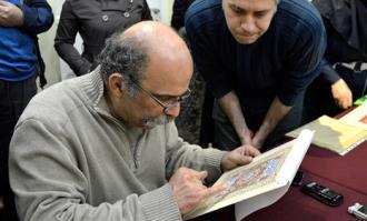 گزارش تصویری برگزاری کارگاه آموزشی «فن پرداز در نقاشی ایرانی» در کتابخانه و موزه ملی ملک