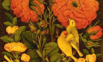 کتابخانه و موزه ملی ملک، نمایشگاه «گلومرغ؛ منتخب آثار بانوان هنرمند معاصر» را برپا کرد