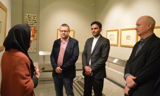 مارتین کوکاندا: امیدوارم زمینه همکاری با کتابخانه و موزه ملی ملک در زمینه نسخههای خطی فراهم شود