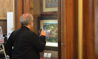 نمایشگاه نقاشی پشت شیشه در کتابخانه و موزه ملی ملک گشایش یافت