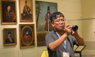 میهمانان اجلاس کمیته بینالمللی موزهشناسی شورای بینالمللی موزهها (ایکوم) از کتابخانه و موزه ملی ملک بازدید کردند