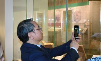 دیدار رییس موزه هنرهای کلکسیونی شانگهای چین از کتابخانه و موزه ملی ملک