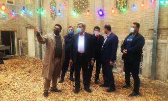 شهردار تهران از خانه تاریخی ملک در بازار بینالحرمین دیدار کرد