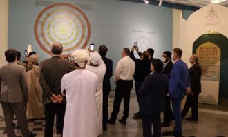 دیدار ویژه میهمانان خارجی کنفرانس وحدت از کتابخانه و موزه ملی ملک