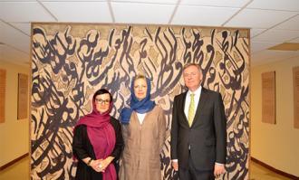 بازدید سفیر اتریش در ایران و قائممقام وزیر امور خارجه این کشور از کتابخانه و موزه ملی ملک
